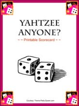 Yahtzee Scorecards