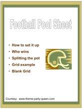 Free Football Pool Sheet