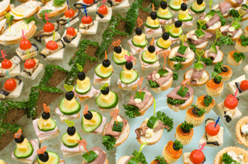 Canapes finger sandwich recipes for Canape toppings ideas