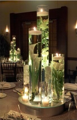 Tall Candle Wedding Centerpieces