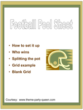 Free Football Pool Sheet