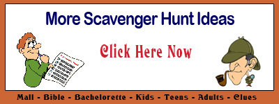 Free Scavenger Hunt Ideas