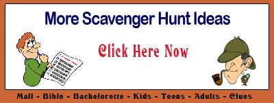 Scavenger hunt kids mall for Photo scavenger