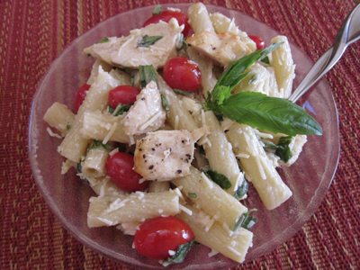 Lemon Pepper Caesar Pasta Salad