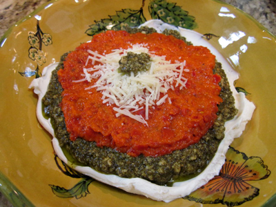 Pesto Red Pepper Dip
