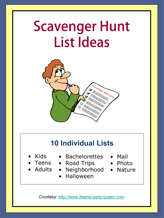 How To Get 10 Free Scavenger Hunt Lists. Scavenger Hunt Lists