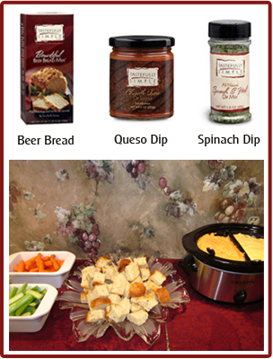 Tastefully Simple Dips in Double Crock Pot