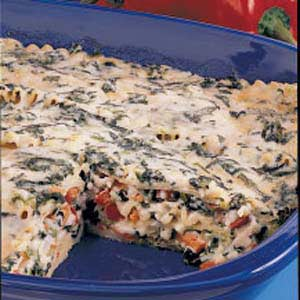 Four Cheese Spinach Lasagne